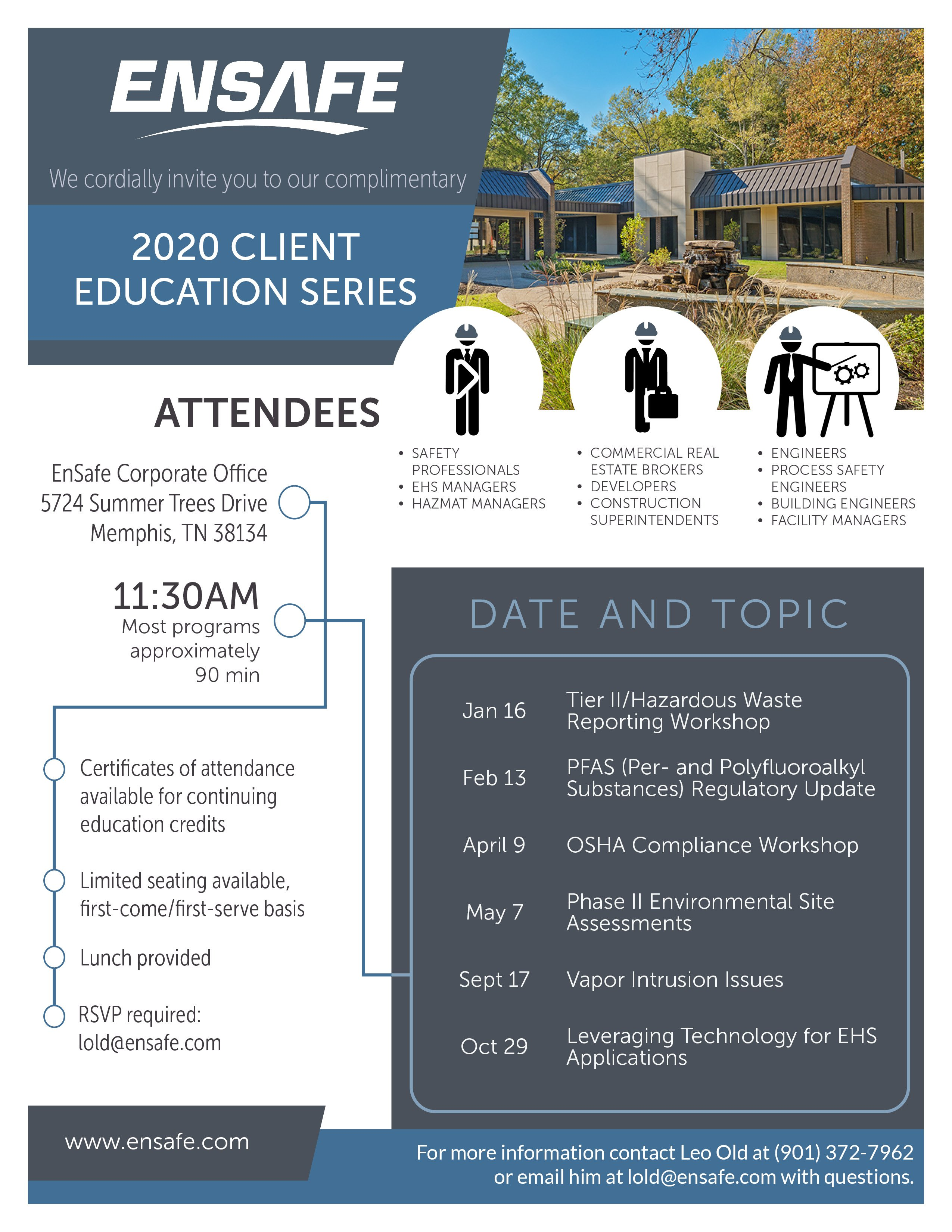 2020 EnSafe Client Education Series